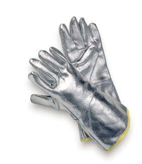 Hitzeschutzhandschuh komplett Aluminium,bis 200°C, 3-Finger