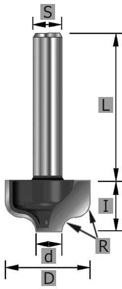 HW-Karnisnutenfräser Z2 S8 x 42 mm