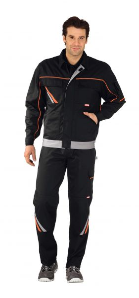 Bundjacke VISLINE2 schwarz, orange, zink Gr. 24