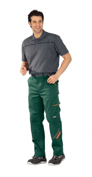 Bundhose VISLINE grün, orange, schiefer Gr. 24