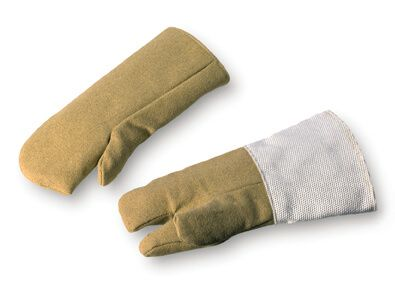 Hitzeschutzhandschuh PBI-Gewebe, bis 800°C, 3-Finger