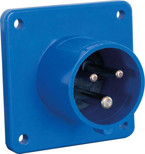 CEE-Anbaustecker 230V/16A, blau