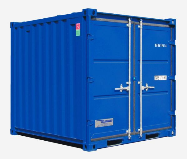 Lagercontainer LC 8', Enzianblau