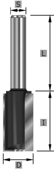HW Nutfräser XL Z2+1 S8 x 90 mm