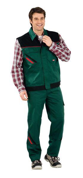 Arbeitsweste HIGHLINE grün, schwarz, rot Gr. XS
