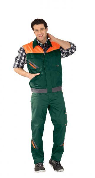 Arbeitsweste VISLINE grün, orange, schiefer Gr. XS